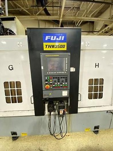 FUJI TNW 3500 TR TWIN SPINDLE TWIN TURRET CNC LATHES WITH GANTRY