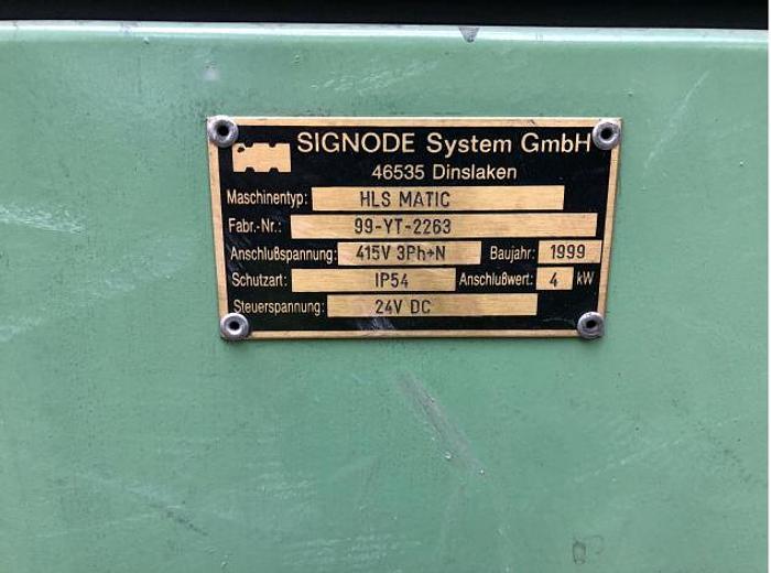 1999 Signode HLS-Matic 1 Verpackungsmaschinen