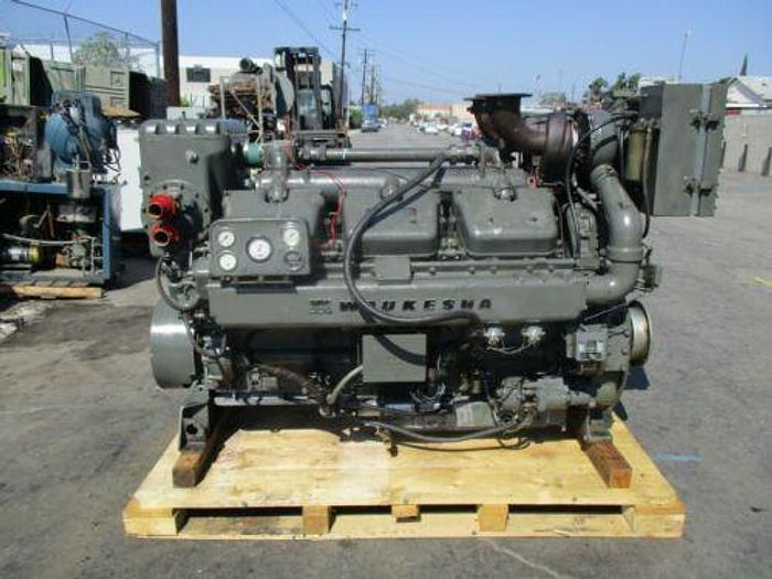 Used WAUKESHA MODEL L1616DSU DIESEL ENGINE 12 CYLINDER IN GOOD WORKING CONDITION