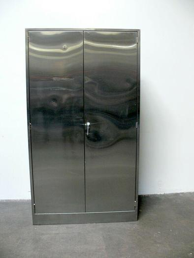 """Used Stainless Steel Lab Storage Cabinet  16"""" x 47"""" x 84"""""""