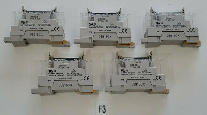 Used *PREOWNED* Lot Of 5 Omron 06X16E Relay 250VAC With P7SA-10F Socket + Warranty!