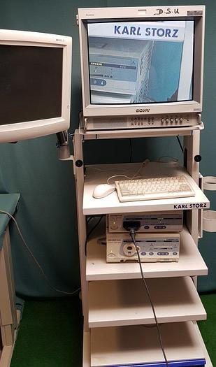 Gebraucht Karl Storz Workstation mit Olympus Visera OTV-S7, CLV S40 Endoskopie System+Flachmonitor