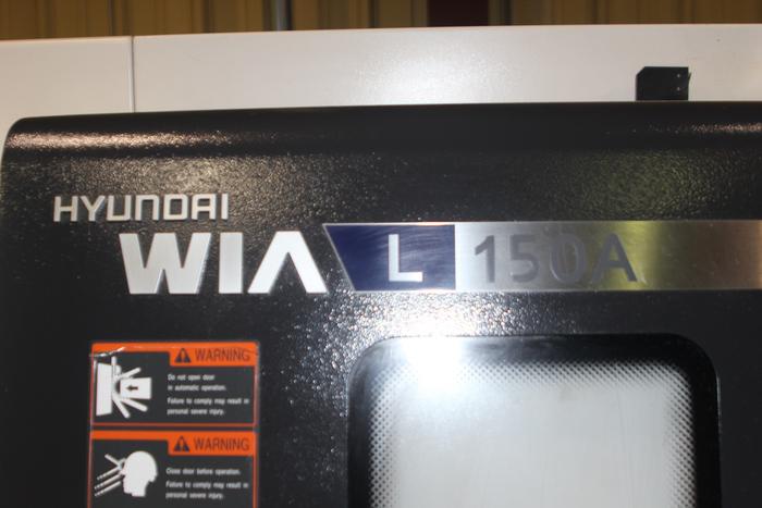 """Hyundai Wia L150A CNC Lathe, 8"""" 3 Jaw Chuck, Fanuc i CNC, 2013"""