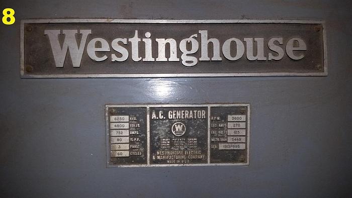 Westinghouse 6250 KVA Generator