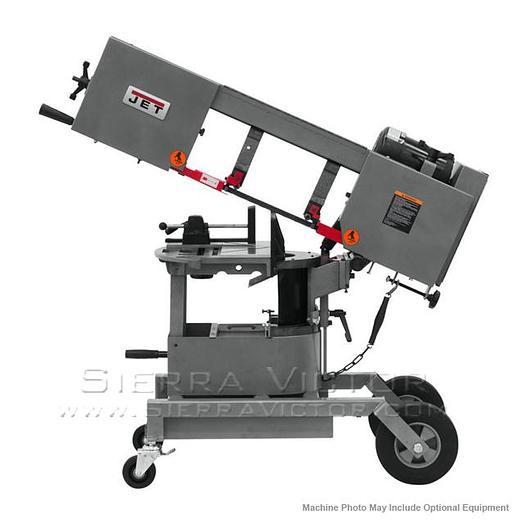JET HVBS-8-DMW Horizontal/Vertical Dual Mitering Portable Bandsaw 3/4HP, 115V, 1PH 424460