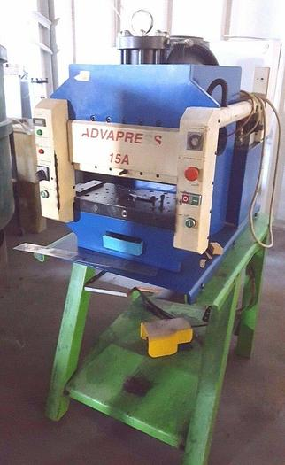 Used Advapress 15 Ton Hydraulic Coining Stamping Assembly Press