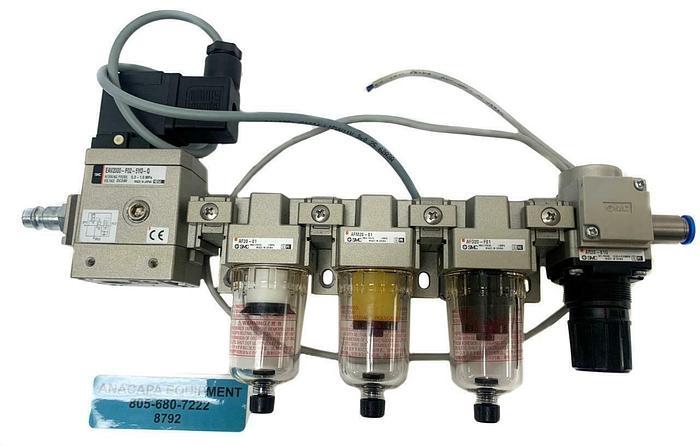 Used SMC EAV2000-F02-5Y0-Q Start Valve, AF20-01, AFM20-01, AFD20-F01 Modules (8792)W