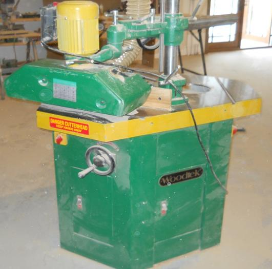 Woodtech Shaper with Triple Head and Powerfeeder
