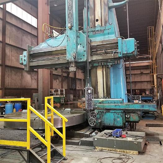 "Used Berthiez 3300/5000 Vertical Boring Mill, 200"" Swing, 135"" H/UR, 75 hp"
