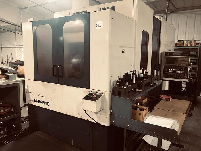 1996 Mitsubishi MH-4B/16 Horizontal Machining Center