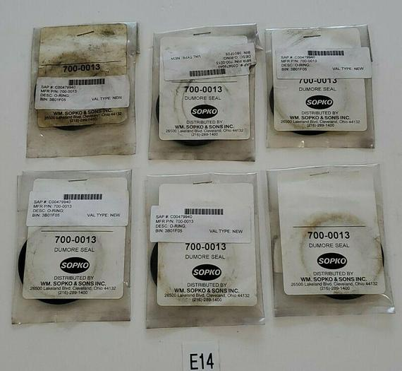 *NEW IN BAG* LOT OF 6 SOPKO DUMORE 700-0013 DUMORE SEAL O RING + WARRANTY!
