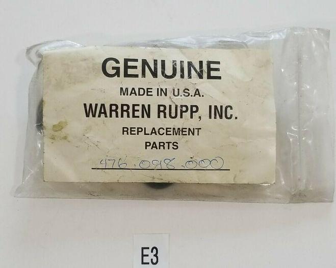 *NEW* WARREN RUPP 476-098-000 REBUILD REPLACEMENT KIT + WARRANTY!