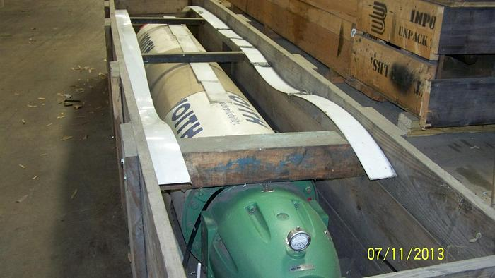 """Used SUCTION PRESS ROLL  22"""" (558MM) DIA  X 114"""" FACE10522 MANCHESTER, REBUILT 2009"""