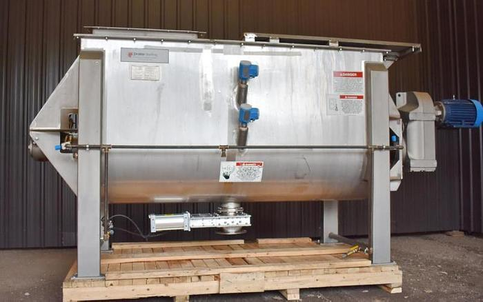USED AMERICAN PROCESS RIBBON BLENDER, 55 CUBIC FEET, DOUBLE RIBBON, STAINLESS STEEL