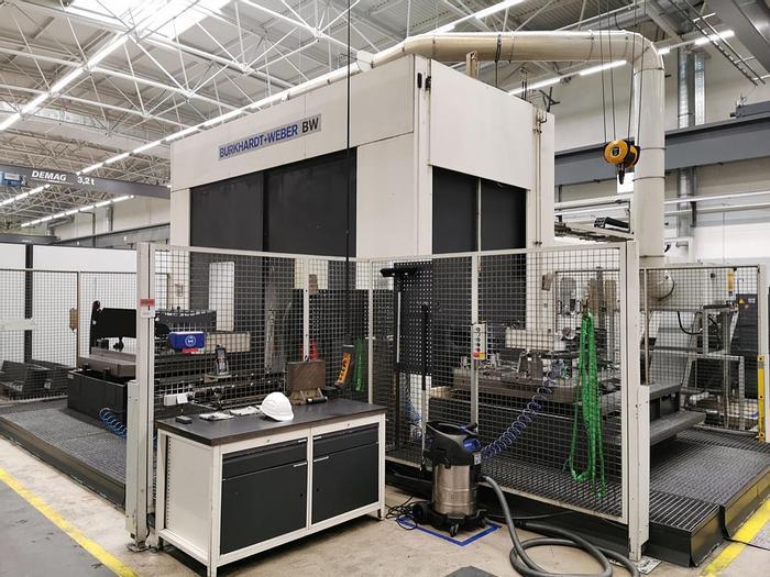 Gebraucht Universal Bearbeitungszentrum mit 2x Paletten-Wechsler BURKHARDT & WEBER MC 120 HV