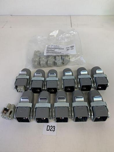 Harting - Han 3A female connector - 09200032711 Lot Of 12 &11 Housing Part # ??