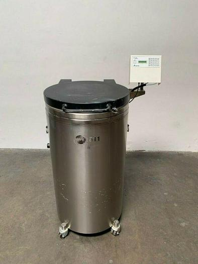 Used CHART MVE 511F Liquid Nitrogen Cryogenic Storage Tank w/ TEC 2000
