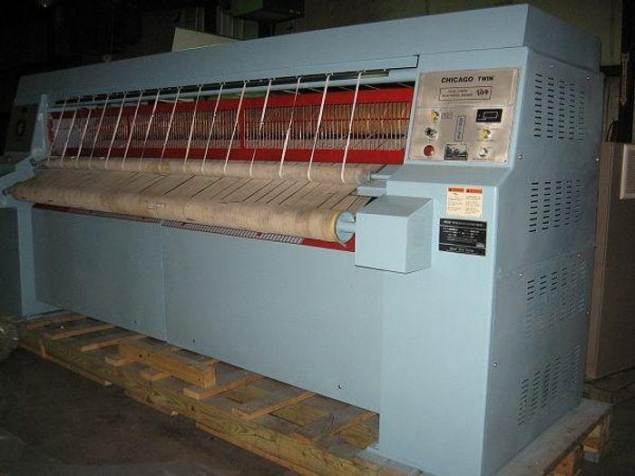 "Used 1990 Chicago 2 roll 24"" x 120"" steam ironer"