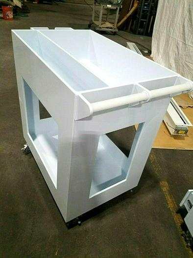 Used Clean Room PVC Utility Cart Medical Pharmaceutical