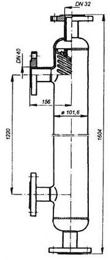 """Used Przeciwprądowy rurowy wymiennik ciepła """"JAD-3/18 L"""""""