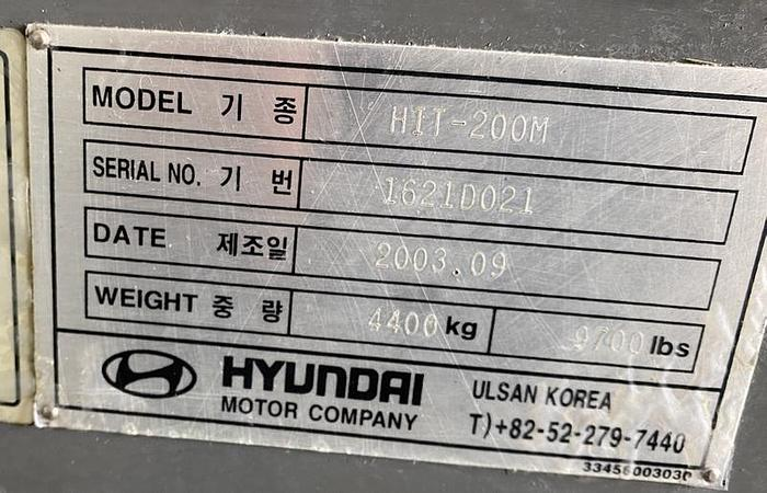 Usata 09/2003 Hyundai Kia HIT-200M