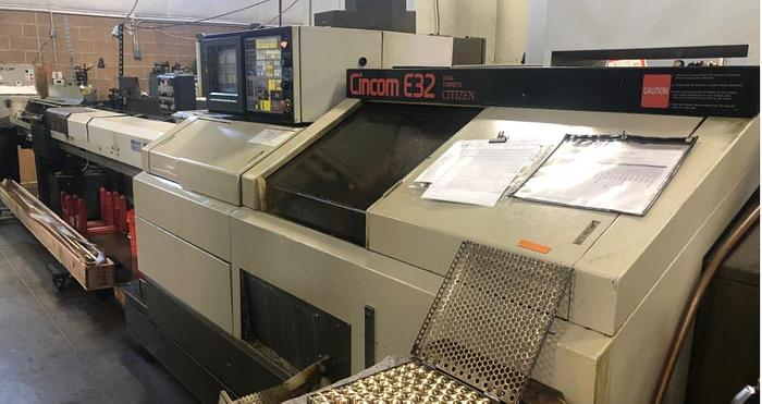 Used 1992 Citizen E32 Swiss Type Twin Turret Lathe