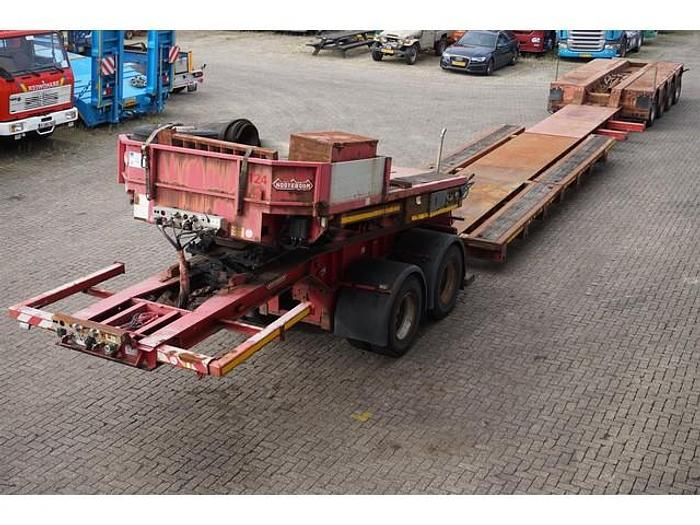 Used 2005 Nooteboom JPD-54 Lowboy / 4+2 axles / 100 ton payload / Dolly / Hydraulic suspension / SAF Drum / 4x steering axle / NL Trailer