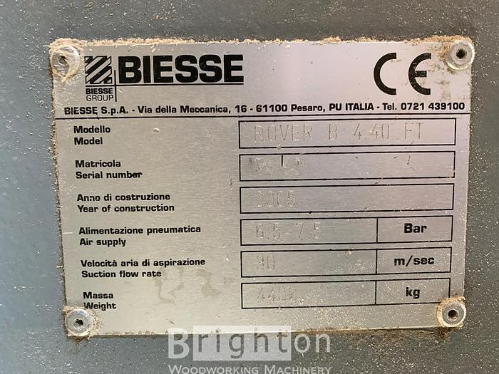 2005 Biesse Rover B 4.40 FT CNC