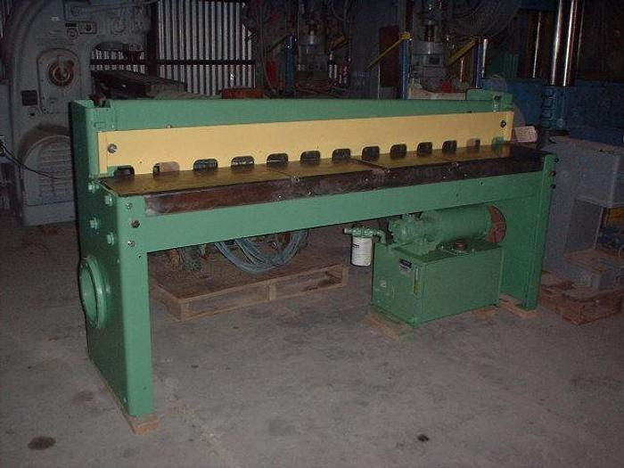 "Used 16 ga x 72"" Niagara Hydraulic Shear; Series One"