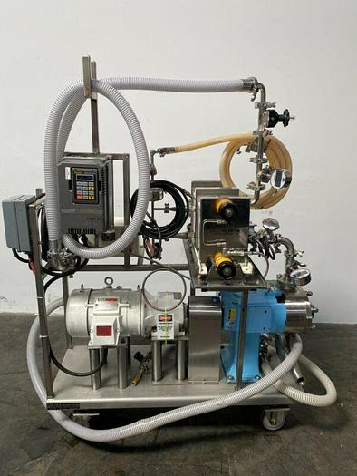Used Tangential Flow Filtration SS Skid w/ Waukesha 130-U2C Pump & Pall Centrasette