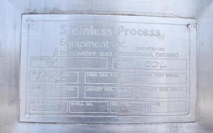 USED CIP SYSTEM, STAINLESS STEEL PROCESS EQUIPMENT
