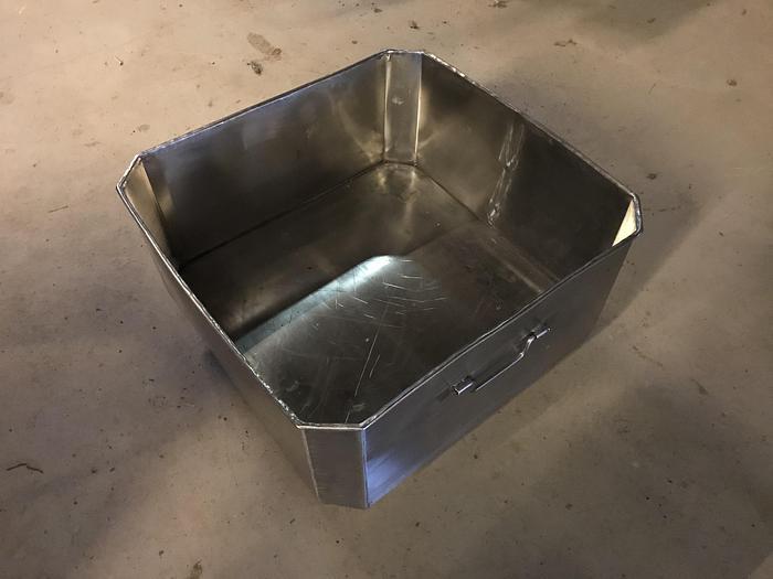 Använd Transportkärl rostfritt ca 90 liter