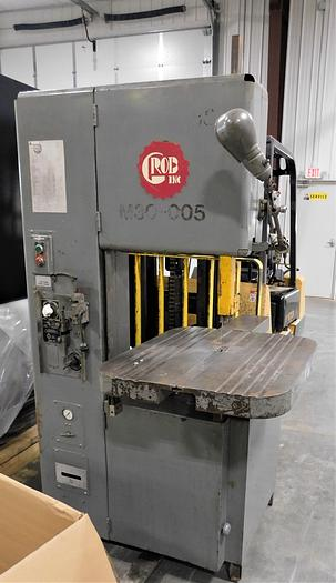 """Used 1973 Grob 12"""" x 18"""" Vertical Contouring Bandsaw 4V18"""