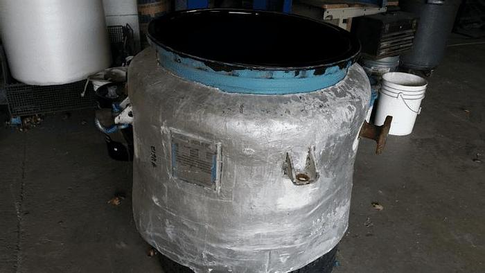Used 50 GALLON PFAUDLER REACTOR – GLASS LINED – 150 PSI
