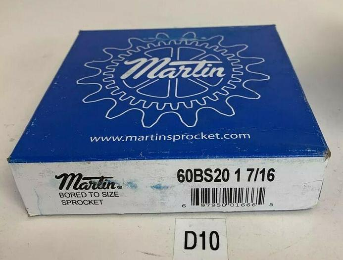 MARTIN BORED TO SIZE SPROCKET 60BS20 1 7/16  - 1 7/16 FAST SHIPPING!