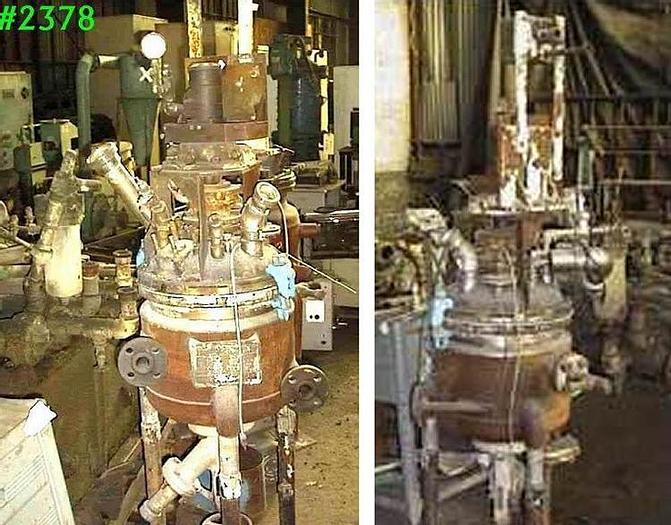 Used 10 GALLON PFAUDLER REACTOR – S/S – 100/100 PSI