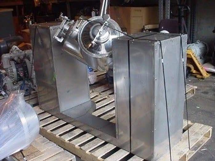 Used 1 CU. FT. WUXI XIN TWIN SHELL BLENDER/DRYER – POLISHED S/S