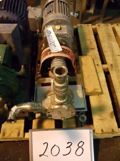 Used 2 1/2'' Flex Stainless Steel Gear Pump #2038