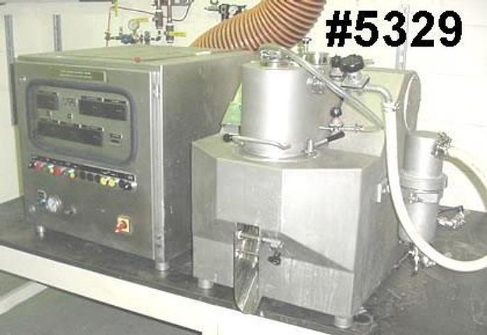 Used 3 LITER (2.11 GALLON) LABOSPHERE HIGH SHEAR MIXER/GRANULATOR/DRYER – T316 S/S
