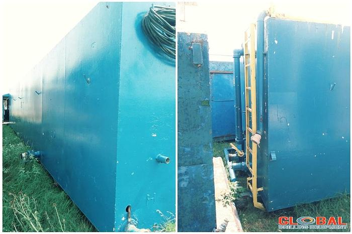 Used Item 0792 : Square Water Tank, 500lbs With Pumping Room
