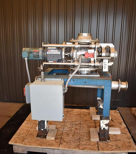 """Used USED ROTARY AIR LOCK VALVE, SIZE: 8"""" X 8"""", STAINLESS STEEL, CLEAN-IN-PLACE, VARIABLE SPEED"""