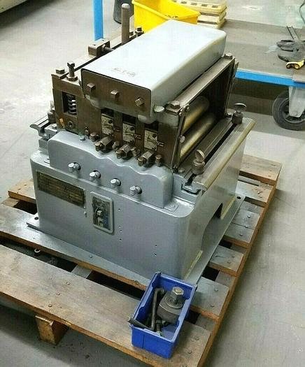 "Used Littell 10"" Motorized Continuous Stock Leveler Straightening Machine 110V"
