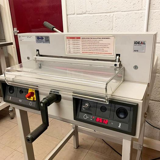 Used 2011 IDEAL 4315 Desktop Guillotine Cutter - 4040359DT