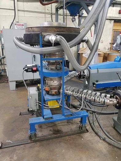 """Used 8"""" 2 layer Western Die on rotator with Sano D/L Air Ring 0.040 die gap"""