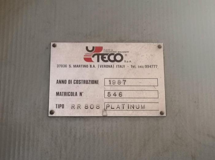 UTECO PLATINUM 808 RR – 8 col. flexo (1200 mm) year 1987