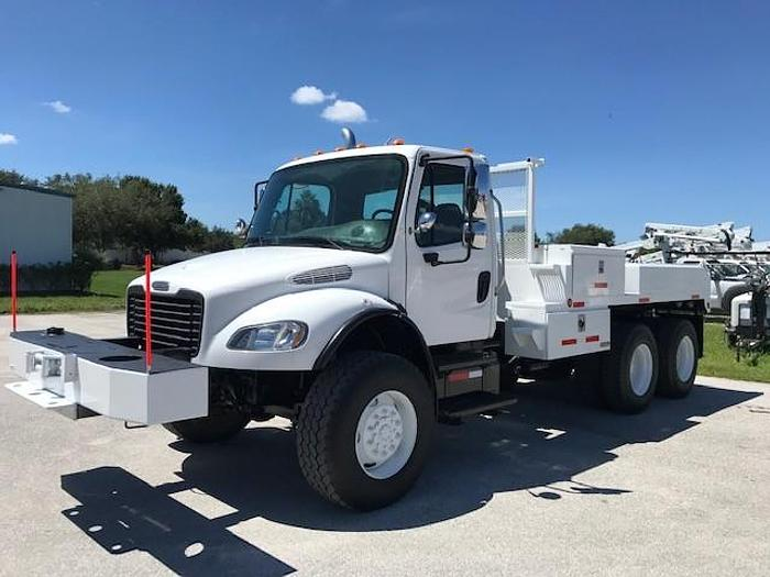 Used 2007 Freightliner M2-106 6X6 12ft Flatbed Winch Truck - C87324
