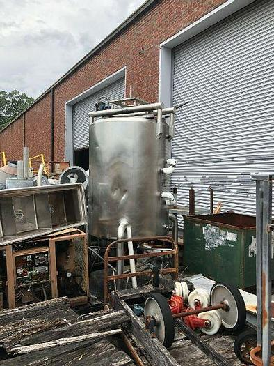 Used 400 GALLON CHERRY BURRELL STAINLESS STEEL MIX TANK – 100 PSI  JACKET (#9734)