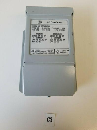 GE TRANSFORMER, TYPE QB, 9T51B0504, .100 KVA, 50/60 Hz *NEW & FAST SHIPPING*