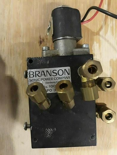 Used Branson Air Valve for Ultrasonic Welder with solenoid