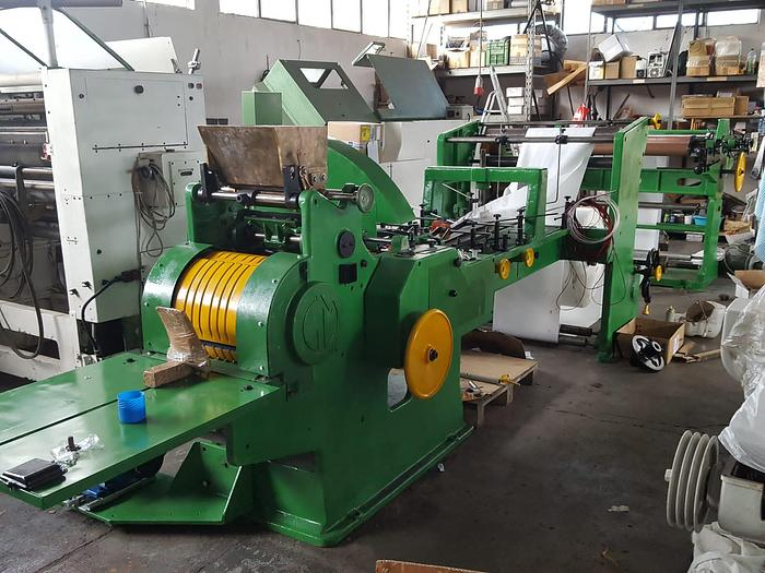 Used Manzoni Seriana 31 with 3 col flexo - FLAT & SATCHEL paper bag making machine (year 1988 - overhualed in 2021)